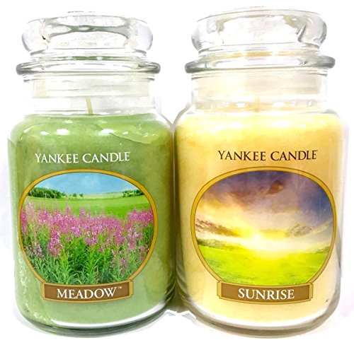 oficial-yankee-candle-lovely-day-juego-de-2-botes-de-raro-grande-sunrise-meadow