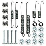 1x Zubehörsatz Bremsbacken für Trommelbremse, Bremssystem Lucas / TRW,