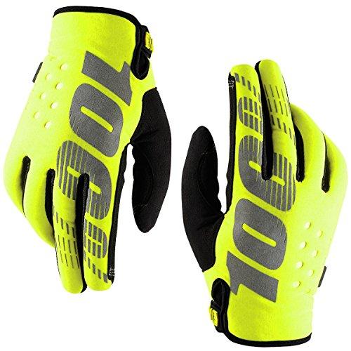 100% Brisker Fahrrad Handschuhe Gelb gelb L (Fahrrad Specialized Mountain Bike)