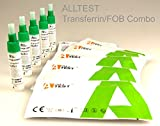 5 x GP/Medical Professional Diagnostic Bowel/Colon Health Test Pack - Combined Transferrin + Faecal Occult Blood (FOB) Rapid Test