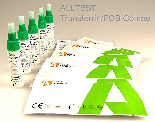 5x GP/Medical diagnostico professionale Bowel/Colon Health test Pack–combinato Transferrina + sangue occulto nelle feci (Fob) test rapido