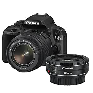 Canon EOS 100D Digital SLR Camera (18MP, 18-55mm DC Lens, EF 40mm STM) Clear View LCD