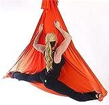 Kits de Yoga Yoga Anti-gravité Hamac-Yoga Hamac Pilates Équipements de Danse Aérienne Yoga Balançoire Tissu Stretch Durable Yoga Hamac 5 Meter (Orange, 5)