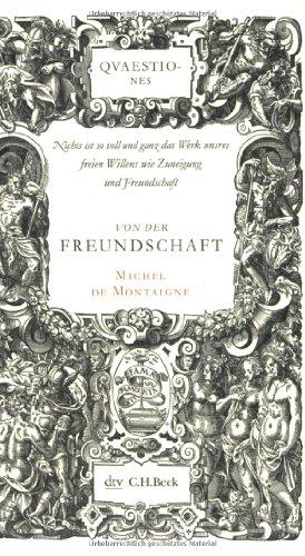 Buchseite und Rezensionen zu 'Von der Freundschaft' von Michel de Montaigne