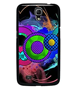 PrintVisa Designer Back Case Cover for Samsung Galaxy Mega 6.3 (multicolor rounded circles smoky background)