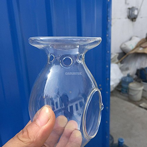 BHPSU Kerzenständer aus klarem Glas für Öl und Aroma/Wachs
