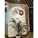 WERLM Personalisiertes Design Home dekorative Wanduhr art Clock retro Bügeleisen personalisierte Fahrrad Wanduhr im Wohnzimmer, im Wohnzimmer Küche Büro Schulen für jedes Zimmer, 16-Zoll geeignet sind