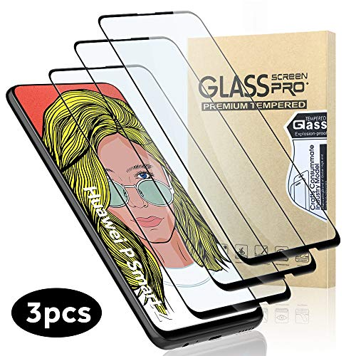 """GeeRic Verre Trempé Compatible pour Huawei P Smart Z, Lot de 3 Couverture Complète Film de Protection d'écran Vitre Dureté 9H 6.59"""""""