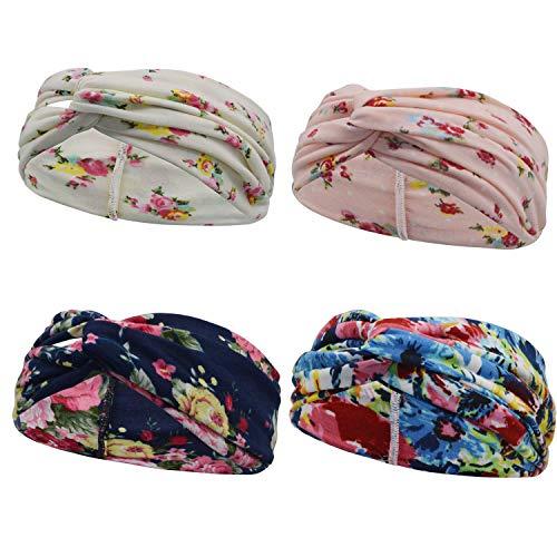men Mädchen   Frühling Kopfband Haarband Elastische Blume Gedruckt Stirnbänder ()