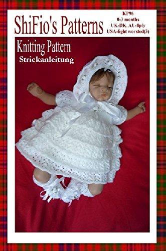 Strickanleitung  – KP96 - Baby-Kleid, Hut und Stiefel (Stiefel Hut)