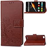 KM-WEN® Case for Cubot X16 (5.0 Inch) Embossing Four Leaf