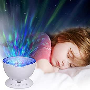 Ocean wave projector light t sun sleep night light with 7 for Living light hypnosis