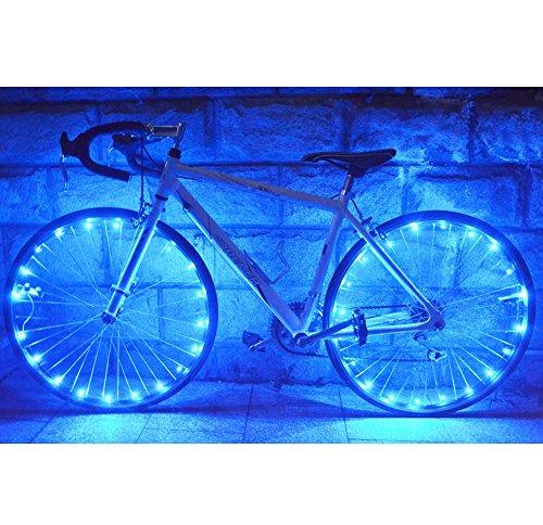 Zantec 2.2M ultrahelle 20 LED Fahrrad Radfahren Rad Lichterketten bunt Fahrrad Speichen Reifen Zubehör, Grün
