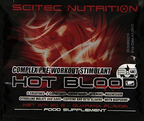 Scitec Nutrition Hot Blood 3.0 Box Guarana, 1er Pack (1 x 500...