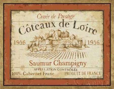 French Wine Label II dal Brissonnet, Daphne-stampa fine art disponibile su tela e carta, Tela, SMALL (14 x 11 Inches ) - French Wine Label