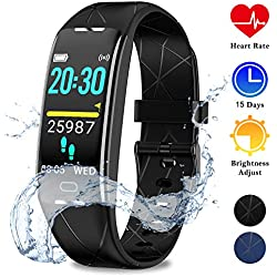 WOWGO Montre Cardiofréquencemètre,Tracker d'Activité avec Moniteur de Sommeil,chronomètre,Bluetooth Podomètre GPS Smartwatch IP68 Étanche Montre pour Femme Homme