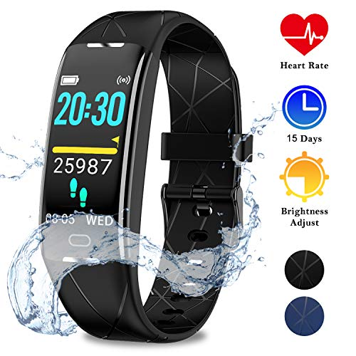 WOWGO Fitness Armband,GPS Aktivitätstracker IP68 Wasserdichtes Fitness Uhr mit Stoppuhr Infrarotsensor Pulsmesser Schlafmonitor Schrittzähler 7 Sportarten für Frauen, Kinder, Männer