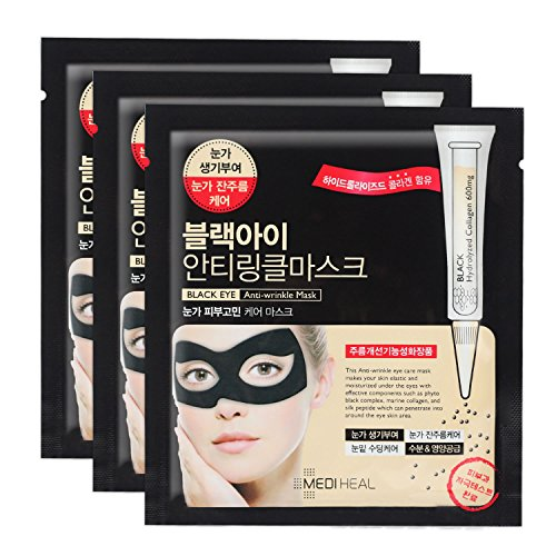 Black EYE Anti-wrinkle Mask 1box 10ml 3pcs by Unknown