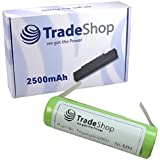 Trade-Shop Accumulateur à hautes performances Ni-MH 2500 mAh 1,2 V Pour Braun Oral-B Triumph 4000 5000 9000 9400 9500 9900, Braun Oral-B 3731 3738, Professional Care 8000 8300 8500 9500, Sonic Complete, PrecisionClean, Sensitive, 3D White, Oxyjet