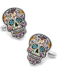 Day Of The Dead - Dia De Los Muertos Skull Cuff Links By Cufflinks Inc
