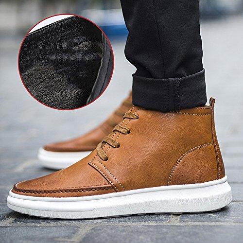 Feifei Hiver Keep Warm High Chaussures Hommes Chaussures En Coton 2 Couleurs (couleur: Marron, Dimensions: Eu / 41 / Uk7.5-8 / Cn42) Marron