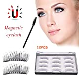 Huaqiang 3D Magnetic Eyelashes, wasserdicht, langlebig, 6-Paar No Glue No Trace Reine manuelle Wimpern