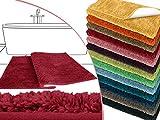 die extra Streicheleinheit für Ihre Füße in Markenqualität - Mikrofaser Badteppich - erhältlich in 13 modernen Farben und 6 verschiedenen Größen -, rot, 50 x 45 cm ohne Ausschnitt