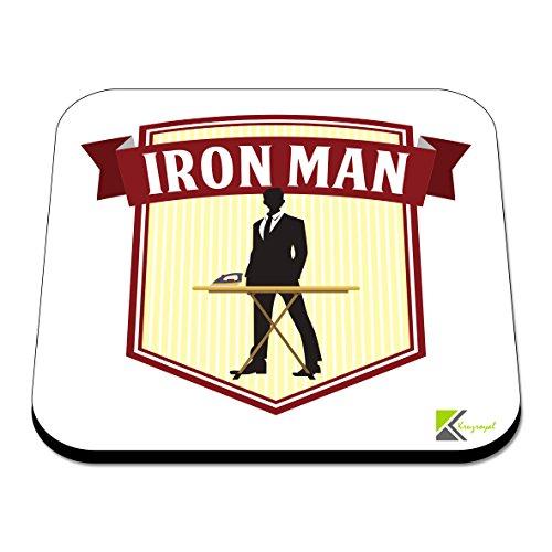 CS590 Untersetzer aus MDF-Holz mit Iron Man-Motiv