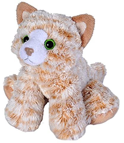 Wild Republic 18 cm Hug'ems Tabby Cat Plush Toy (Orange)