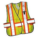 Tofern Hohe Sichtbarkeit Hi-Viz 3M Reflektor leuchtstoff weste für Laufen Radfahren Wandern Fahren camping Bau Warnweste - Orange & gelb