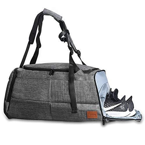 DINOKA Sporttasche für männer Frauen, Umhängetasche für das Fitnessstudio, Reiserucksack,Gym Tasche wasserdicht mit Schuhfach und Trinkflaschen-Halter 50L