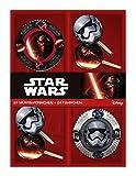 p:os 25698 Disney Star Wars 24 Muffinförmchen mit 24 Fähnchen im Geschenkkarton