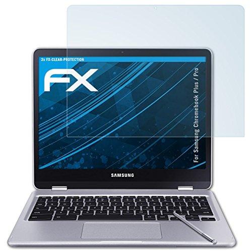 atFolix Schutzfolie kompatibel mit Samsung Chromebook Plus/Pro Folie, ultraklare FX Bildschirmschutzfolie (2X)
