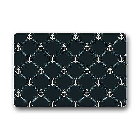 Evergreen Fashion Custom Anker Chevron Nahtlose Muster Waschmaschine gewaschen Fußmatte Personalisierte Home Fußmatte Gate Pad Teppich 59,9cm (L) X 39,9cm (W)