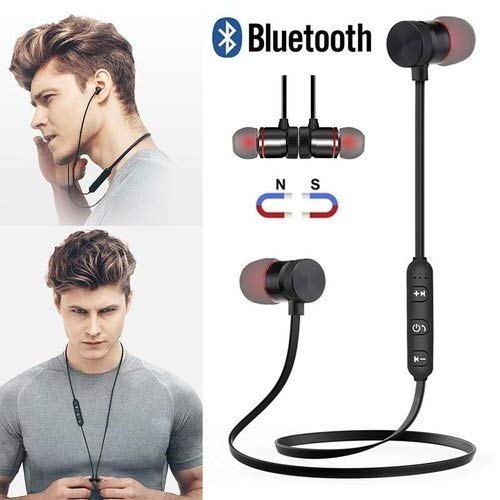 LUZWE Bluetooth Earphone Wireless Headphones Sports Stereo Music Working; Gym Exercise Use Bluetooth Headset Compatible with All Smartphones Image 4