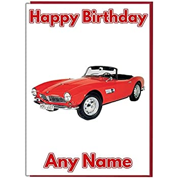 Classic Car Personalisierte Geburtstagskarte - Jeder Name