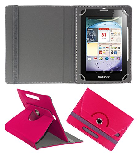 Acm Rotating 360° Leather Flip Case For Lenovo Ideapad A3000 Tablet Cover Stand Dark Pink  available at amazon for Rs.149