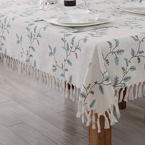 Tischdecken LINGZHIGAN Stoff Baumwolle Hanf Tuch Art Einfache rechteckige Tee Tisch Hochzeit Restaurant Party Tisch (Dieses Produkt verkauft) (größe : 135 * 220cm)