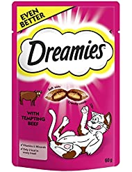 Dreamies Cat Treats with Beef, 60 g
