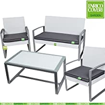 Set Completo Sofà Trend Relax Bianco Wicker