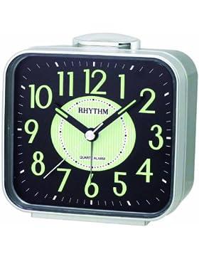 RHYTHM CRA629NR19 Glockenwecker Kunststoff Analog Alarm schwarz