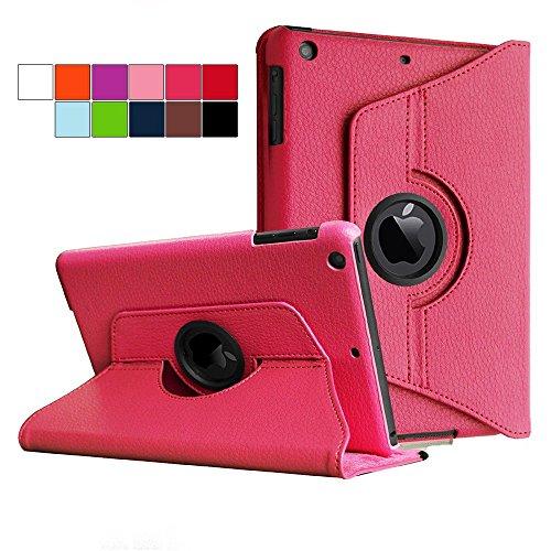 COOVY® Cover für Apple iPad mini 1 / 2 / 3 ROTATION 360° SMART HÜLLE TASCHE ETUI CASE SCHUTZ STÄNDER   Farbe hotpink