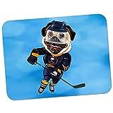 Eishockey Mops mit Schlittschuhen & Schläger Hochwertiges dickes Gummi-Mauspad mit weicher Komfort-Oberfläche