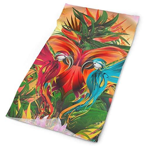 Headband Tropical Colorful Parrot Birds Feather Headband Men Women Headwrap Magic Head Scarf Bandana Headwear Neck Scarf Quick Dry Pirate Hat Liner Design Headdress Scrunchie Face Mask Neck Gai (Parrot Head Gear)
