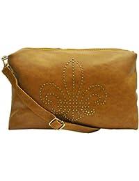 PU Leather Stylish Sling Bag For Girls / Women (Beige Color) - B075QJRJWY