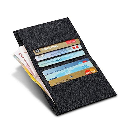 Lucrin - Etui für Kreditkarten und Geldscheine - Ziegenleder Schwarz