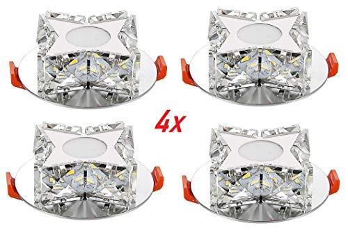Foco LED exclusivo para empotrar en el techo, lámpara de cristal, lámpara...
