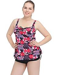 AMYMGLL Grande taille maillot de bain en bikini maillots de bain mode en Europe et les États-Unis de séchage rapide à haute élastique style jupe style maillot de bain multicolore