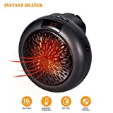 GESUNDHOME Electric Heater - Mini Fan Heater Household Portable Handy Space Heater Warmer With LED Display 1000W For Home/Office/Camper (Version 1)