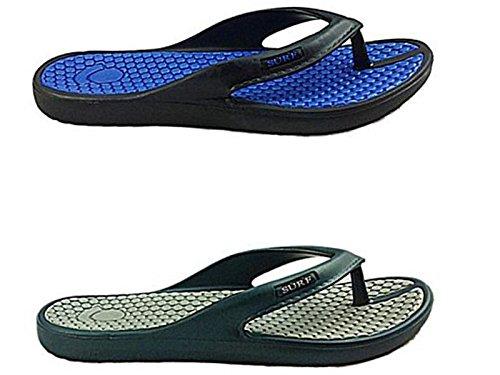 Foster Footwear ,  Jungen Unisex Erwachsene Herren Damen Flipflops Schwarz / Blau